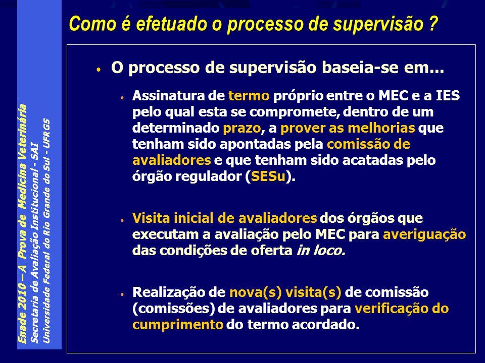 Enade 2010 – A Prova de Medicina Veterinária Secretaria de Avaliação Institucional - SAI Universidade Federal do Rio Grande do Sul - UFRGS O processo