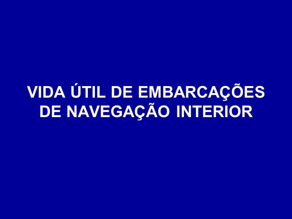 VIDA ÚTIL DE EMBARCAÇÕES DE NAVEGAÇÃO INTERIOR