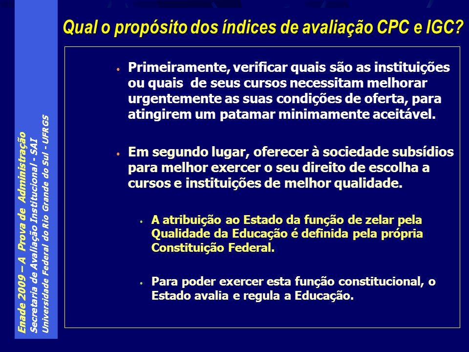 Enade 2009 – A Prova de Administração Secretaria de Avaliação Institucional - SAI Universidade Federal do Rio Grande do Sul - UFRGS Primeiramente, ver