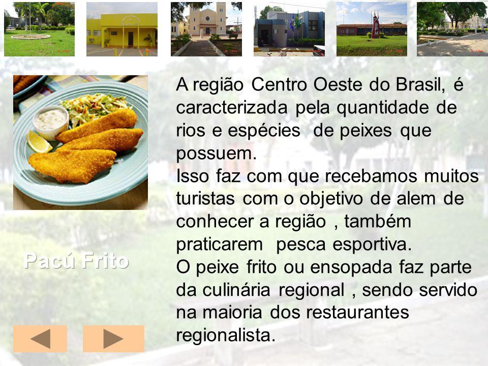 A região Centro Oeste do Brasil, é caracterizada pela quantidade de rios e espécies de peixes que possuem. Isso faz com que recebamos muitos turistas