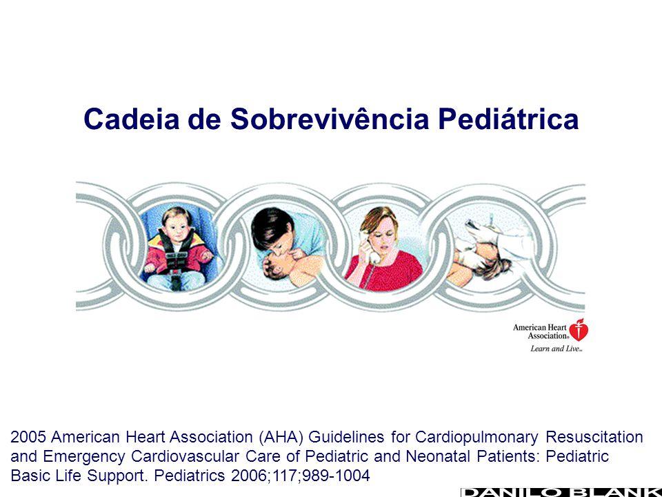 Cadeia de Sobrevivência Pediátrica 2005 American Heart Association (AHA) Guidelines for Cardiopulmonary Resuscitation and Emergency Cardiovascular Car