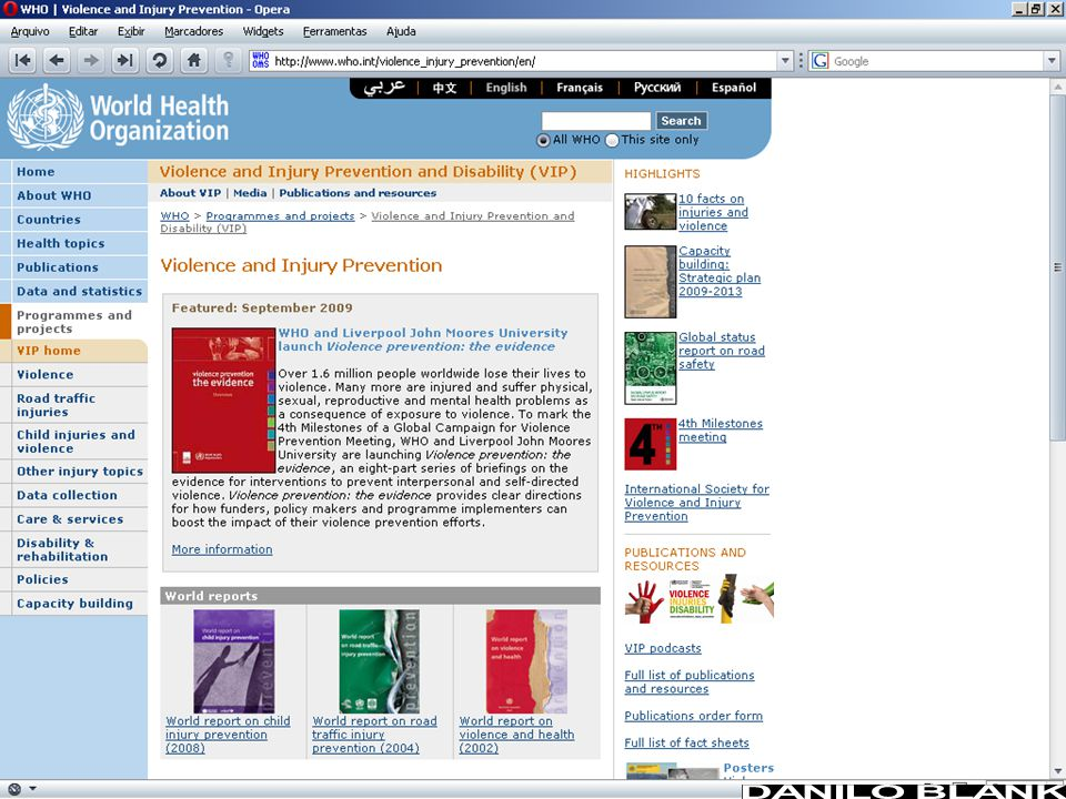 World report on child injury prevention An overview