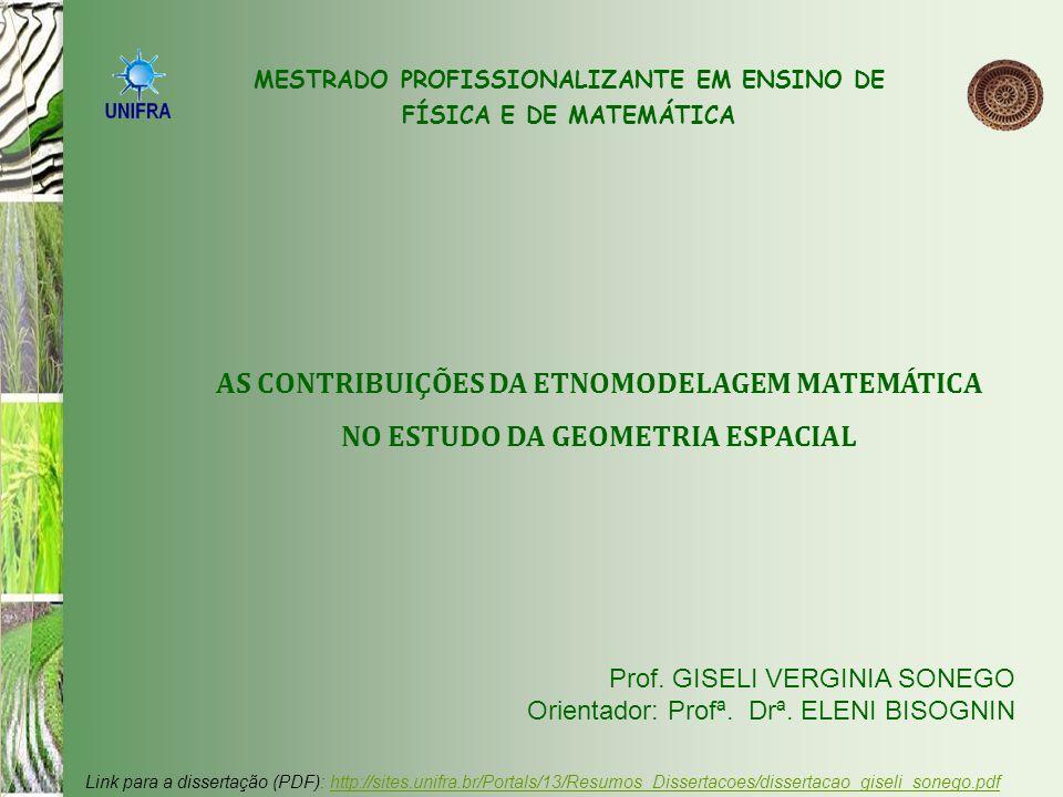 Neste trabalho, o propósito é utilizar a metodologia da Modelagem Matemática, desenvolvendo conceitos relacionados com Geometria Espacial, enquanto é explorado o tema plantio do arroz.