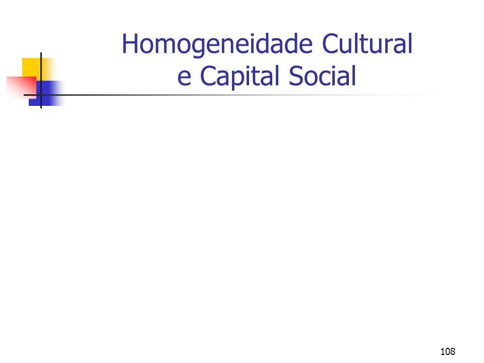 108 Homogeneidade Cultural e Capital Social