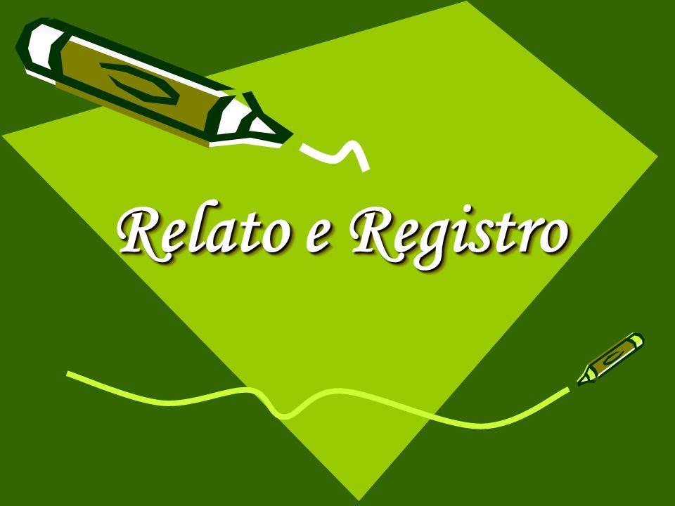 Relato e Registro