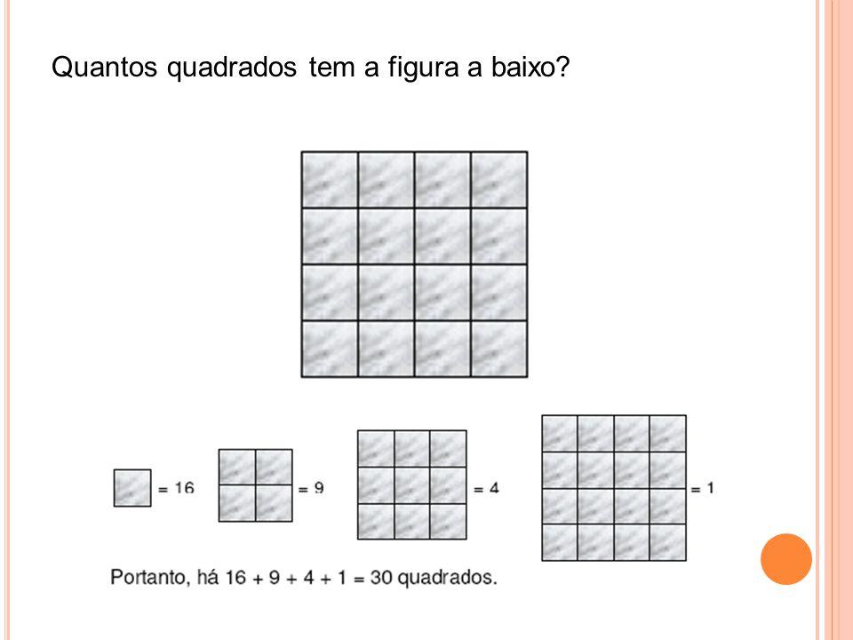 Quantos quadrados tem a figura a baixo?