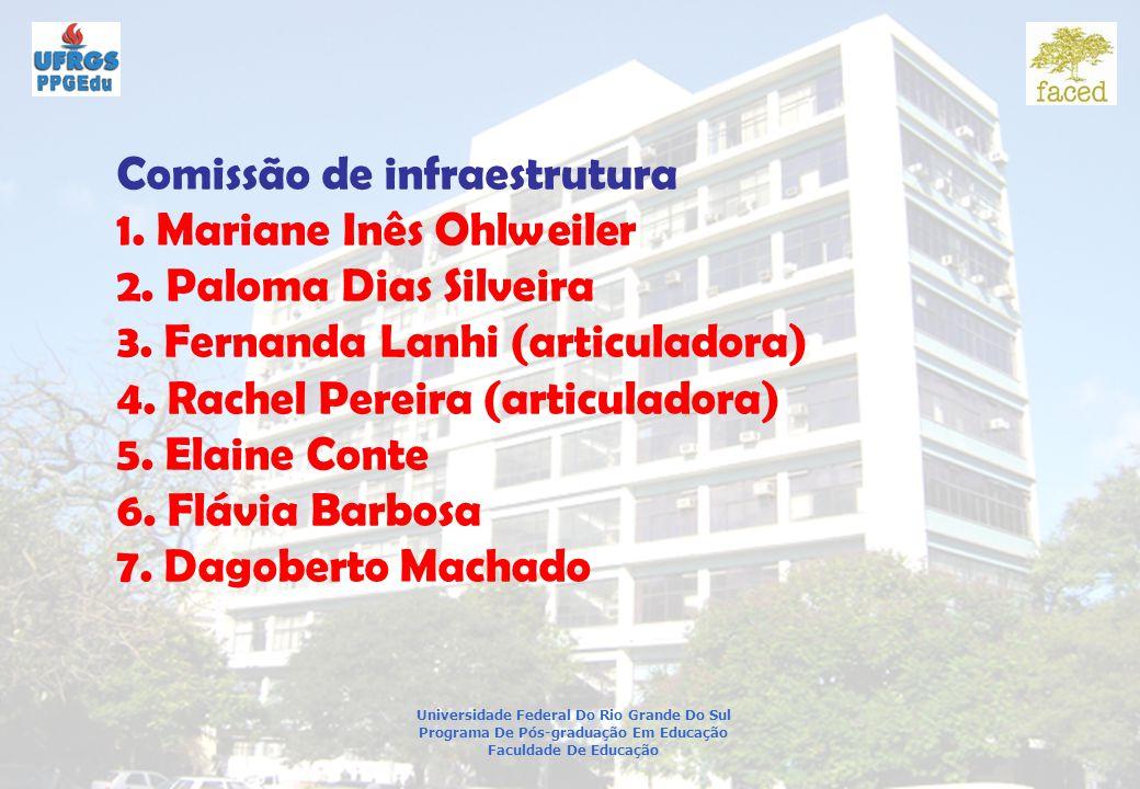 Universidade Federal Do Rio Grande Do Sul Programa De Pós-graduação Em Educação Faculdade De Educação Comissão de infraestrutura 1.