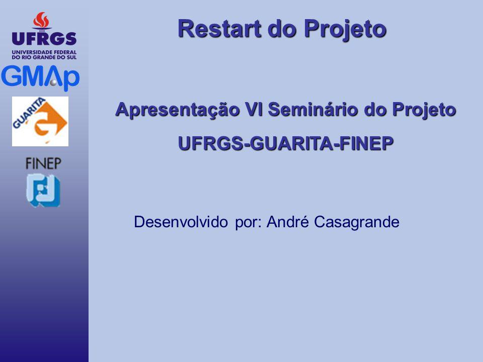 Restart do Projeto Apresentação VI Seminário do Projeto UFRGS-GUARITA-FINEP Desenvolvido por: André Casagrande