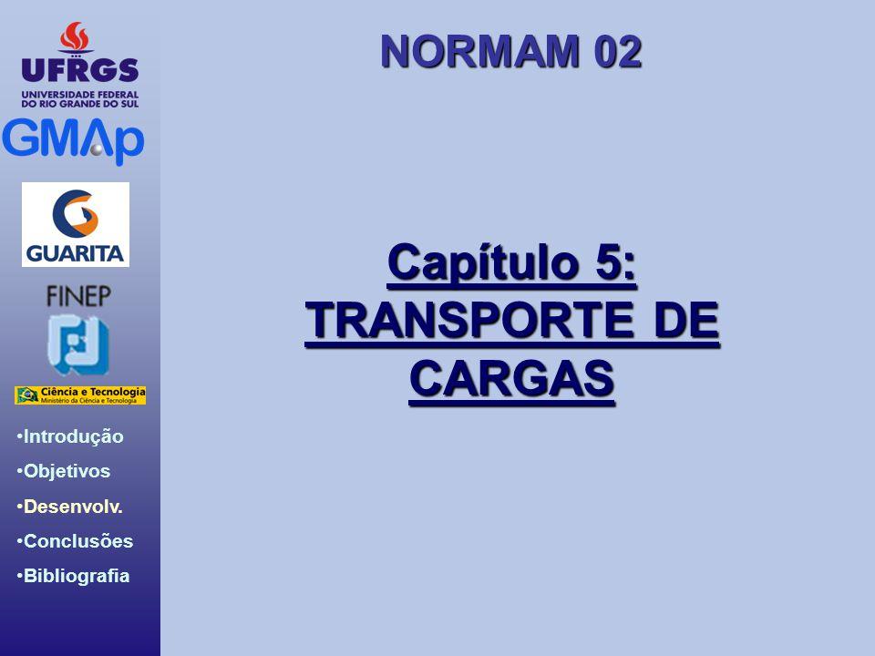 NORMAM 02 Introdução Objetivos Desenvolv. Conclusões Bibliografia Capítulo 5: TRANSPORTE DE CARGAS