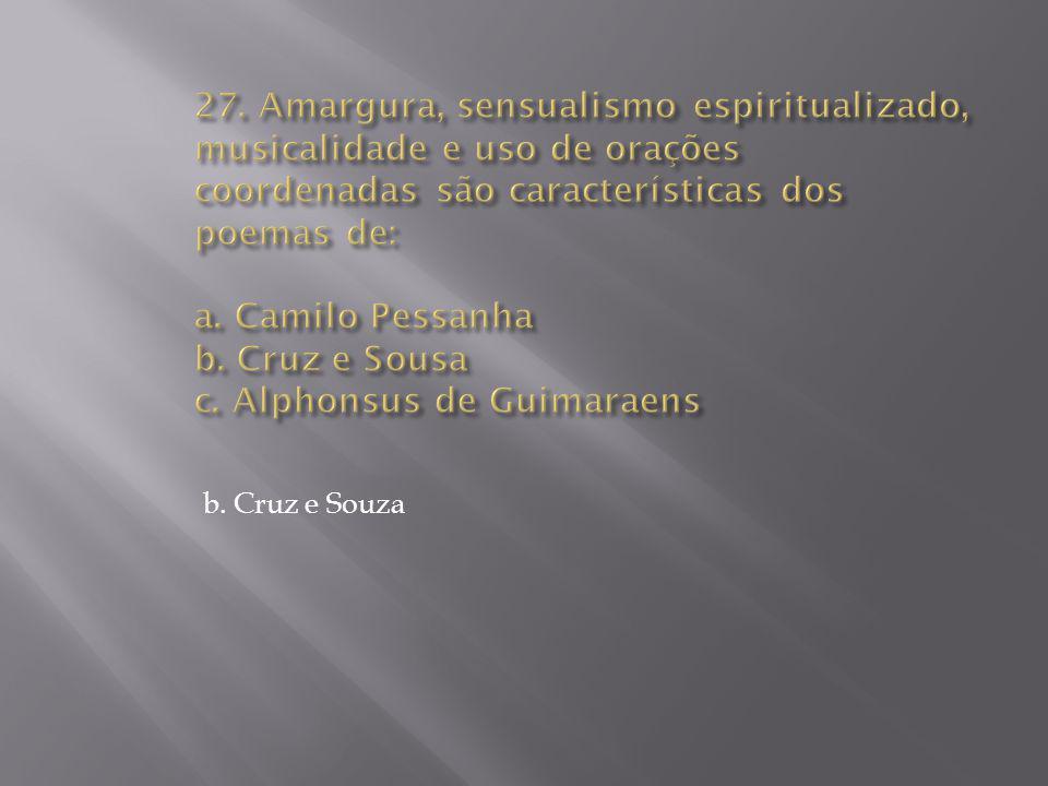 b. Cruz e Souza