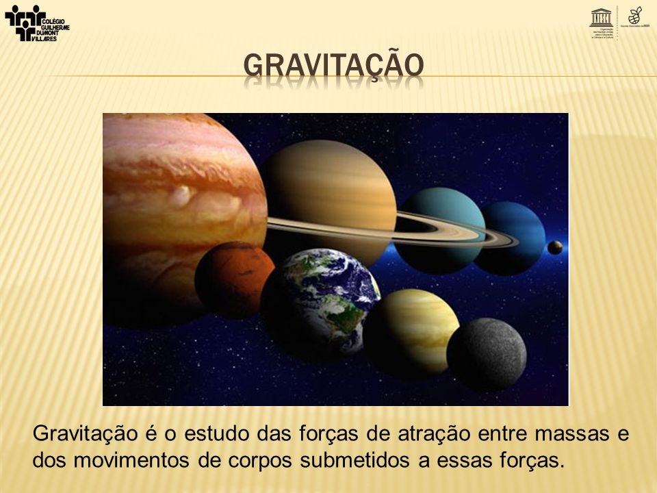 Gravitação é o estudo das forças de atração entre massas e dos movimentos de corpos submetidos a essas forças.