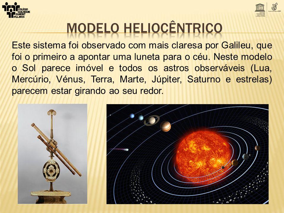 Este sistema foi observado com mais claresa por Galileu, que foi o primeiro a apontar uma luneta para o céu. Neste modelo o Sol parece imóvel e todos