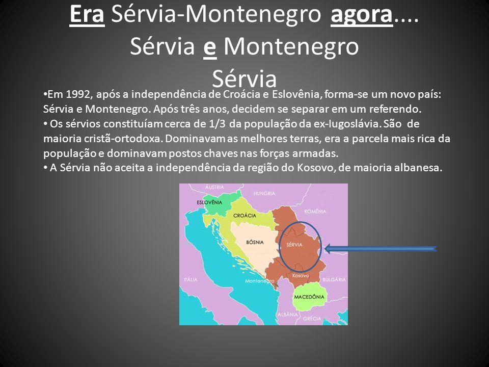 Montenegro Mantém maioria de montenegrinos, mas expressiva minoria de sérvios(32%) na sua população.
