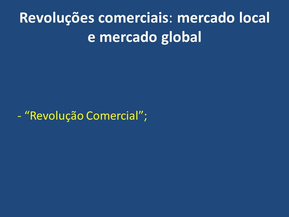Revoluções comerciais: mercado local e mercado global - Revolução Comercial;