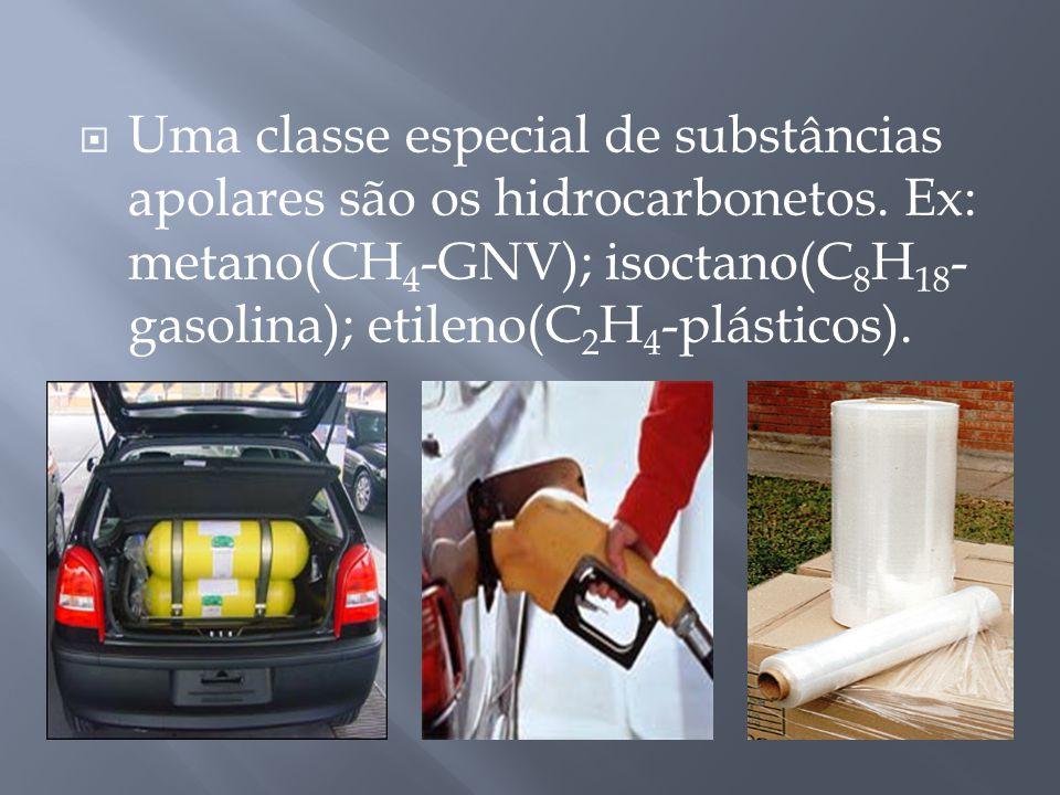 Uma classe especial de substâncias apolares são os hidrocarbonetos.