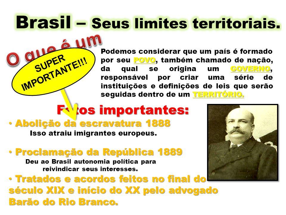 Fatos importantes: Abolição da escravatura 1888 Abolição da escravatura 1888 Isso atraiu imigrantes europeus. Proclamação da República 1889 Proclamaçã