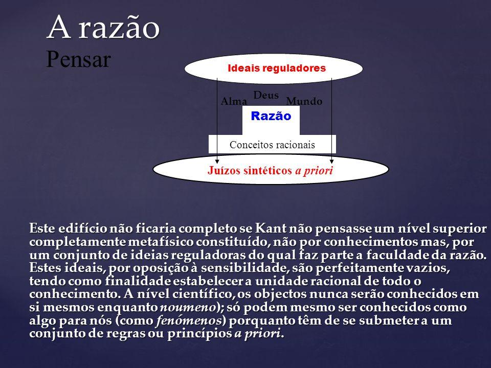 2º nível: Conhecimento Científico Juízos sintéticos a priori Entendimento Relação Modalidade Qualidade Quantidade Conceitos puros Conhecer EspaçoTempo