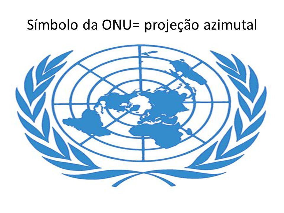 Símbolo da ONU= projeção azimutal