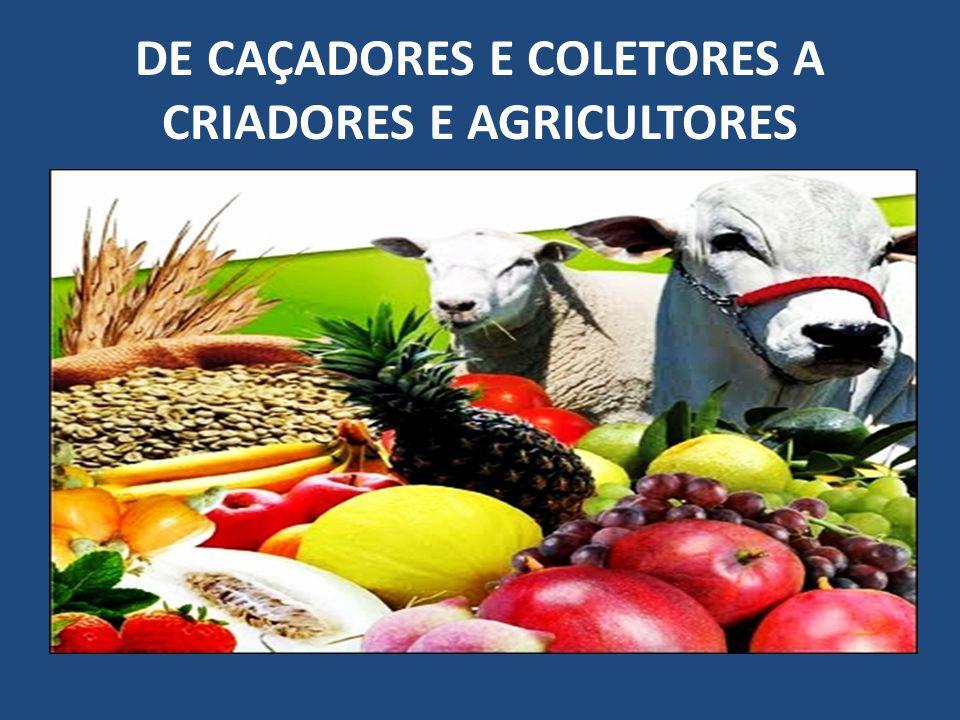 DE CAÇADORES E COLETORES A CRIADORES E AGRICULTORES