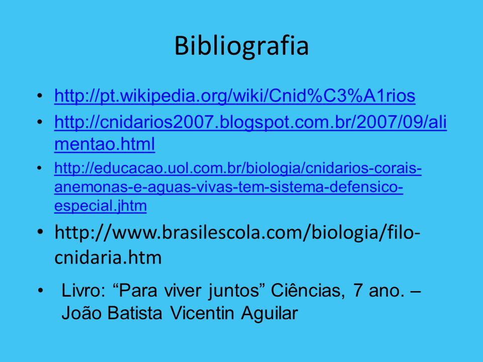 Bibliografia Livro: Para viver juntos Ciências, 7 ano. – João Batista Vicentin Aguilar