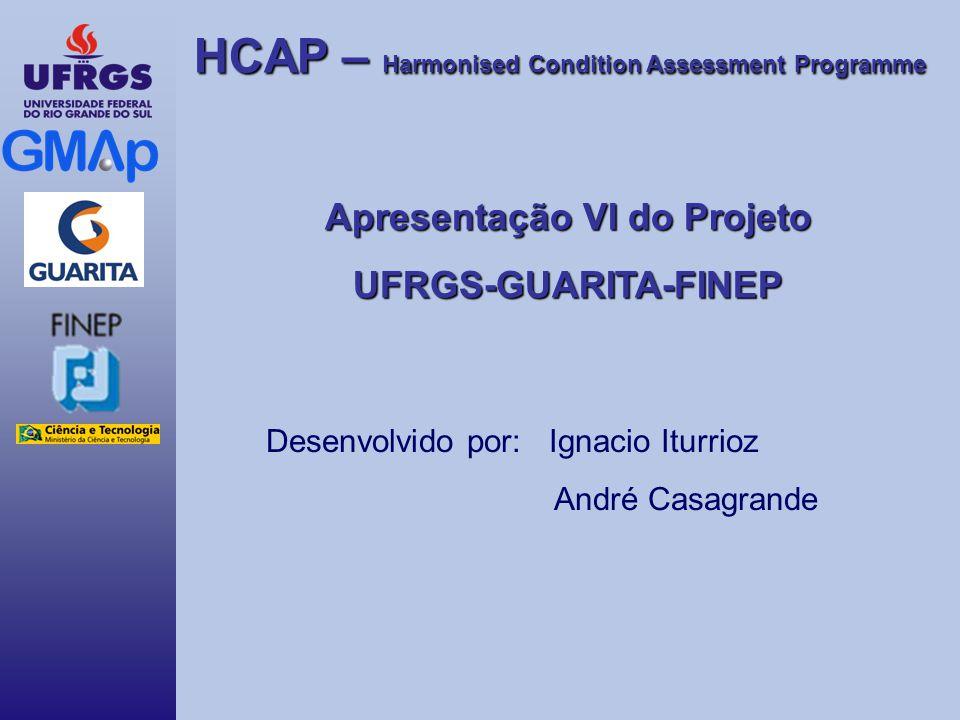 HCAP – Harmonised Condition Assessment Programme Apresentação VI do Projeto UFRGS-GUARITA-FINEP Desenvolvido por: Ignacio Iturrioz André Casagrande