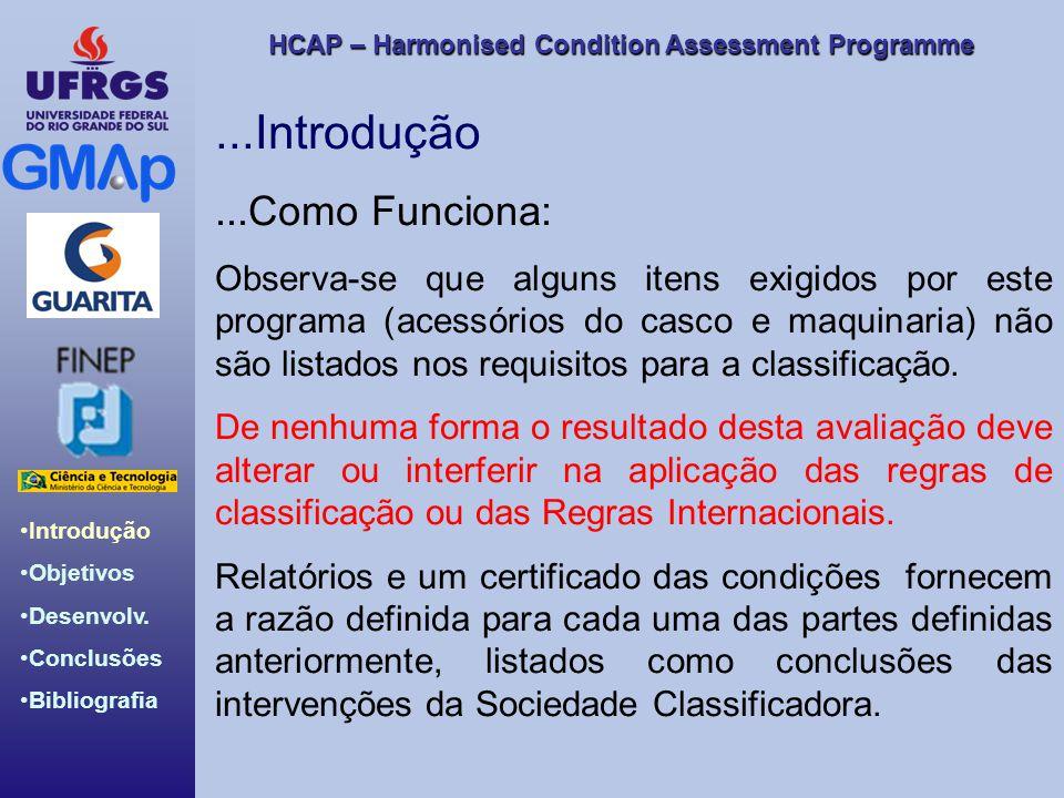 HCAP – Harmonised Condition Assessment Programme Introdução Objetivos Desenvolv. Conclusões Bibliografia...Introdução...Como Funciona: Observa-se que