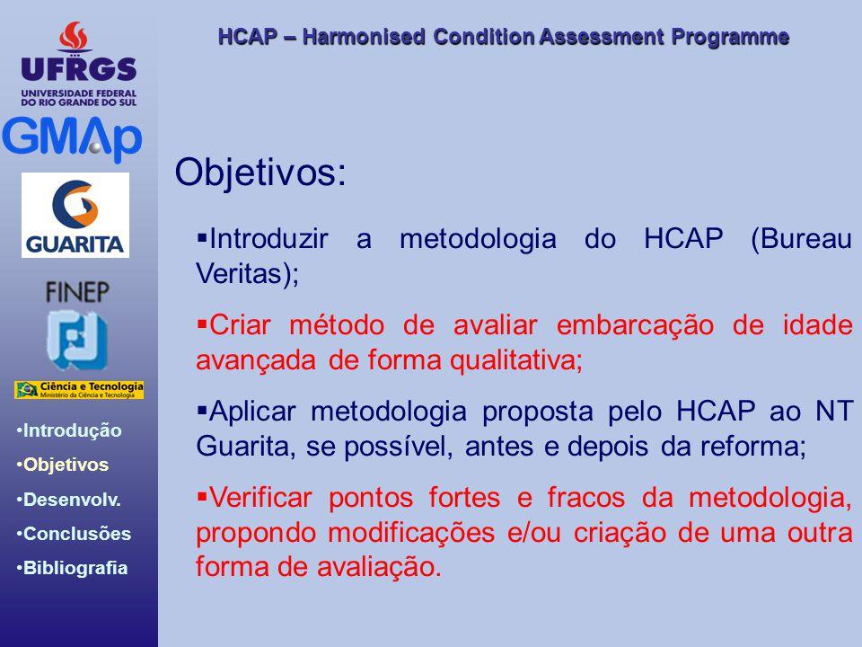 HCAP – Harmonised Condition Assessment Programme Introdução Objetivos Desenvolv. Conclusões Bibliografia Objetivos: Introduzir a metodologia do HCAP (