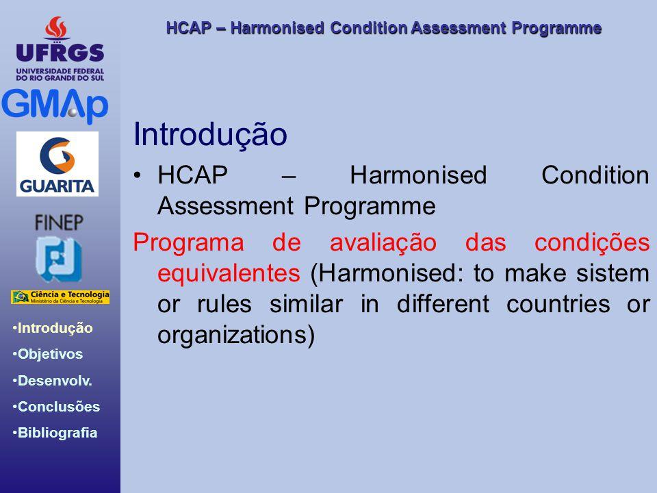 HCAP – Harmonised Condition Assessment Programme Introdução Objetivos Desenvolv. Conclusões Bibliografia Introdução HCAP – Harmonised Condition Assess