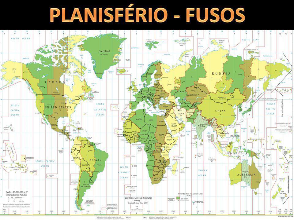 1)Um avião saiu de Fernando de Noronha (1º fuso horário brasileiro) as 10h00 com destino a Belém (PA) (2º fuso brasileiro).