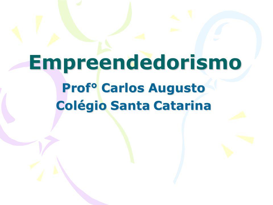 Empreendedorismo Prof° Carlos Augusto Colégio Santa Catarina