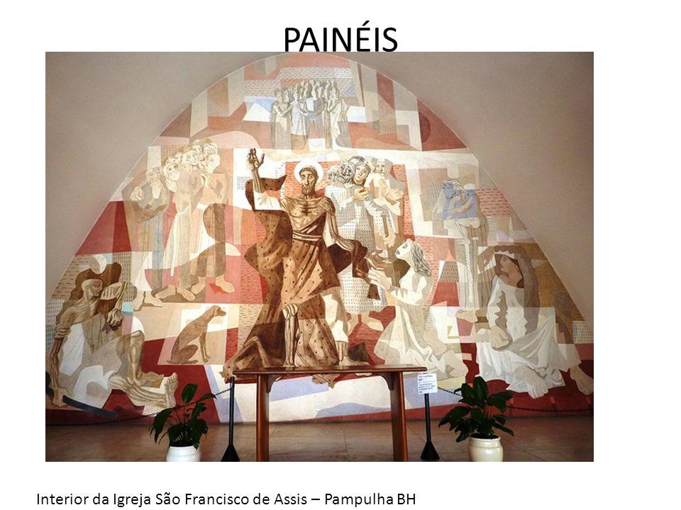 PAINÉIS Interior da Igreja São Francisco de Assis – Pampulha BH