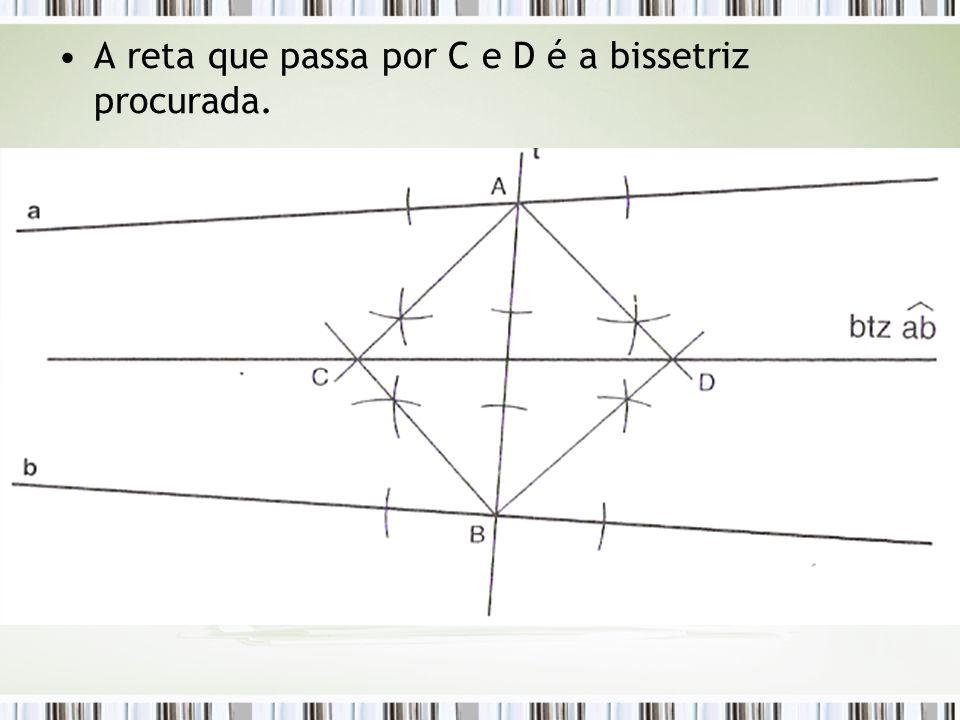 A reta que passa por C e D é a bissetriz procurada.