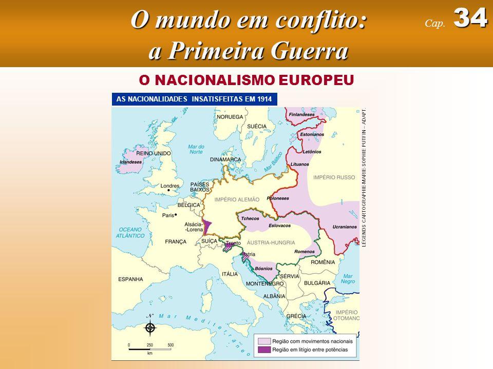 O NACIONALISMO EUROPEU AS NACIONALIDADES INSATISFEITAS EM 1914 LÉGENDS CARTOGRAPHIE-MARIE-SOPHIE PUTFIN – ADAPT.