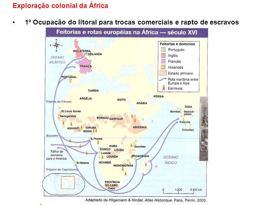 2º Imperialismo europeu: período pós-revolução industrial – colonizaram a África para poder ter para quem vender produtos industrializados e comprar matérias- primas.