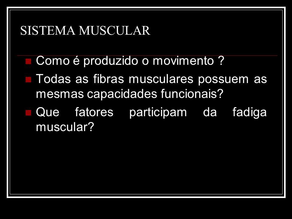 ESTRUTURA DO SISTEMA MÚSCULO ESQUELÉTICO - Movimento e a manutenção da postura; - Produção de calor; roteção e a alteração da pressão para auxiliar a