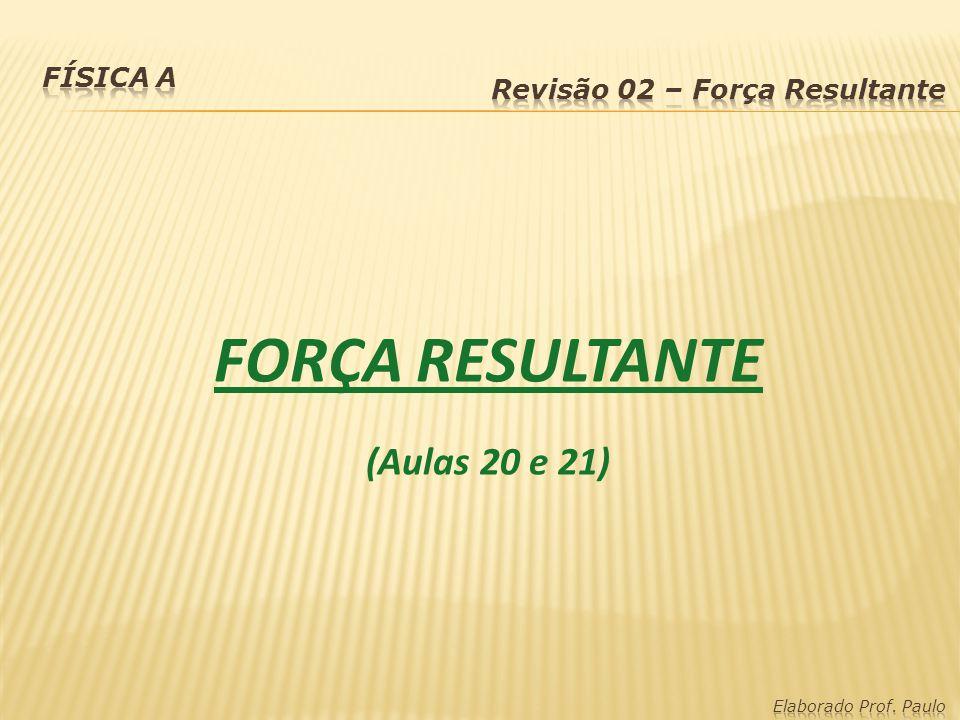FORÇA RESULTANTE (Aulas 20 e 21)