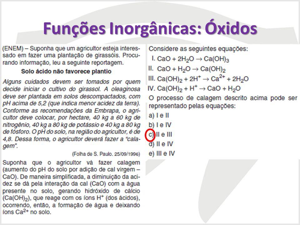 Funções Inorgânicas: Óxidos