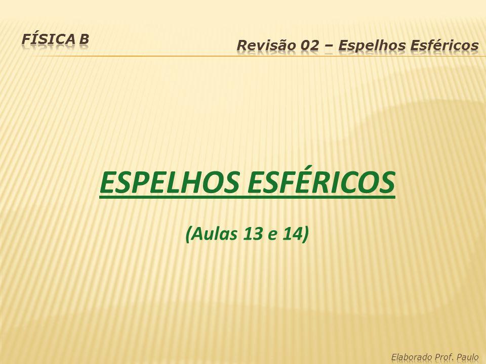 ESPELHOS ESFÉRICOS (Aulas 13 e 14)