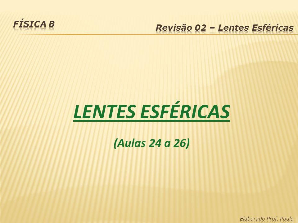 LENTES ESFÉRICAS (Aulas 24 a 26)
