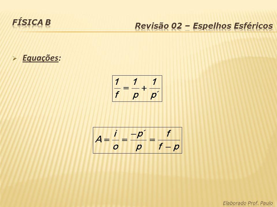 Lentes Esféricas - Vergência ou Convergência (C): São os graus das lentes.