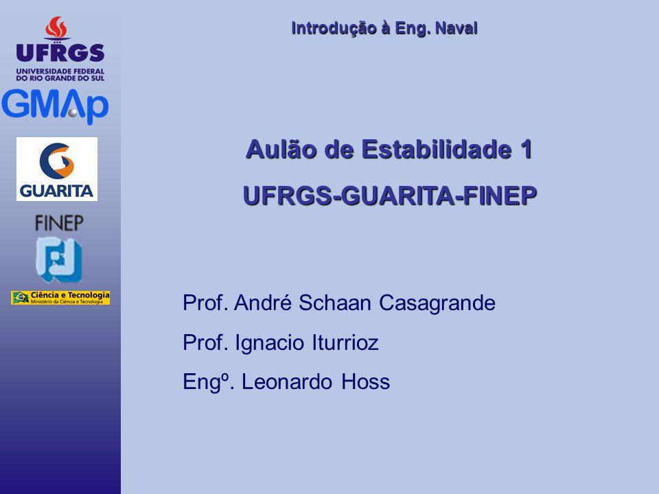Introdução àEng. Naval Introdução à Eng. Naval Aulão de Estabilidade 1 UFRGS-GUARITA-FINEP Prof. André Schaan Casagrande Prof. Ignacio Iturrioz Engº.