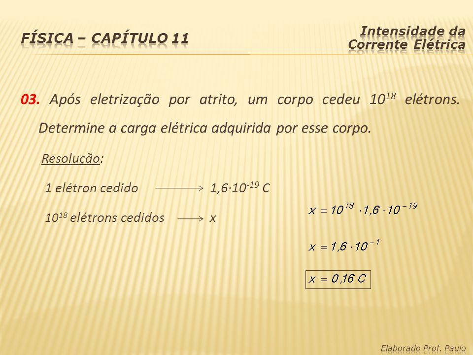 Intensidade da Corrente Elétrica (i): A intensidade da corrente elétrica indica a quantidade de carga elétrica (Q) que atravessa uma seção de um condutor num determinado intervalo de tempo (t).
