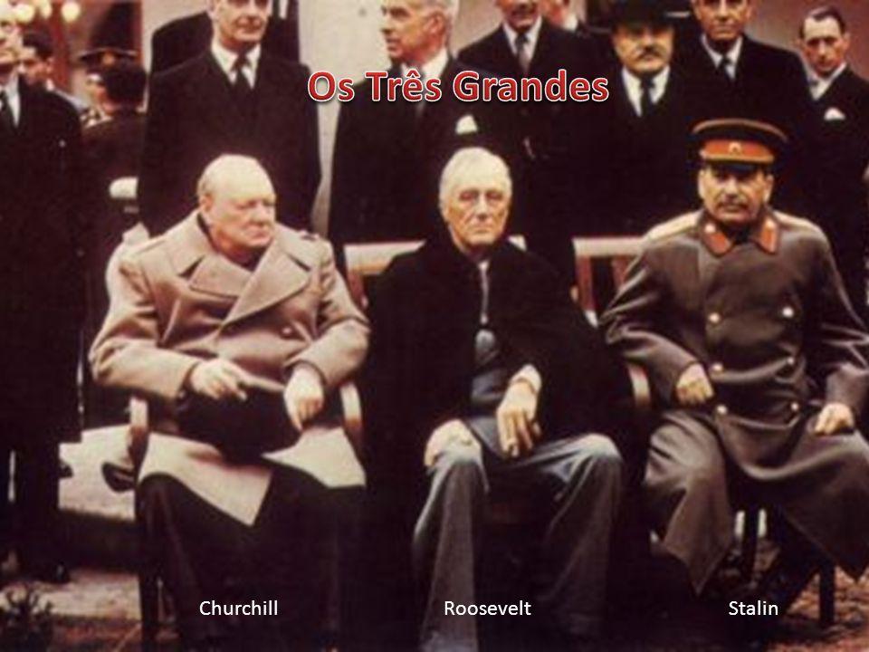 Acordos do Pós-Guerra – gestação da Guerra Fria Conferência de Teerã (nov. - dez. 1943) Em 18 meses conseguir a rendição incondicional da Alemanha Sem