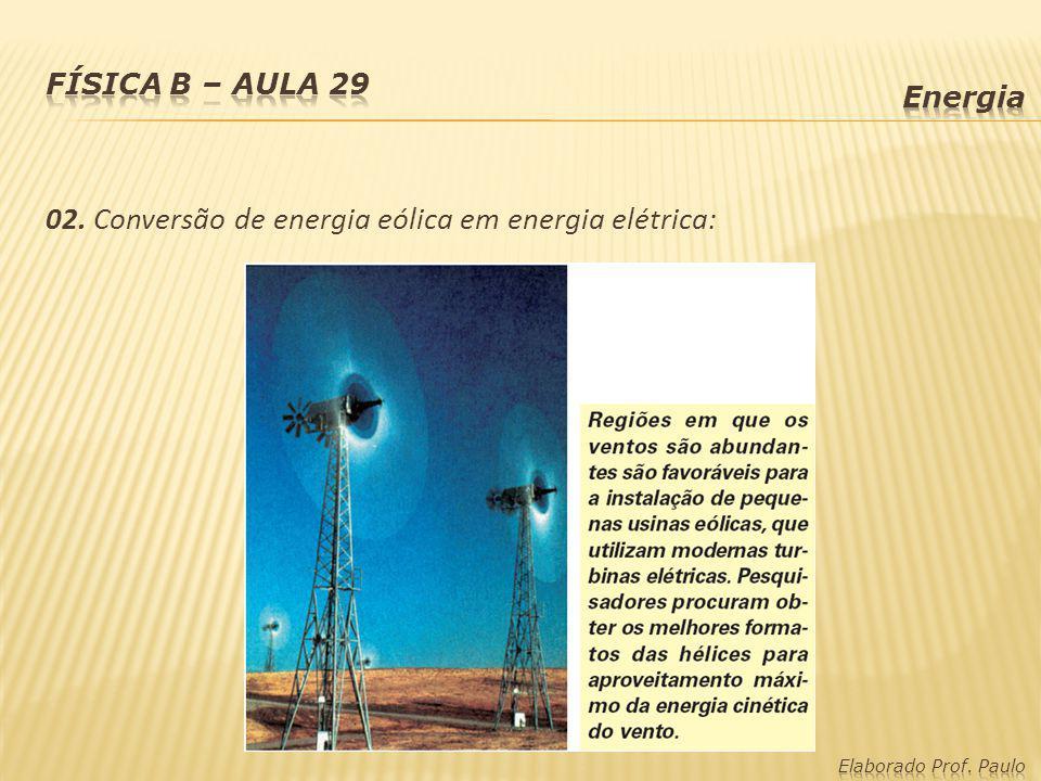 02. Conversão de energia eólica em energia elétrica: