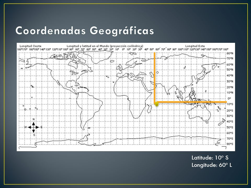 Latitude: 10º S Longitude: 60º L
