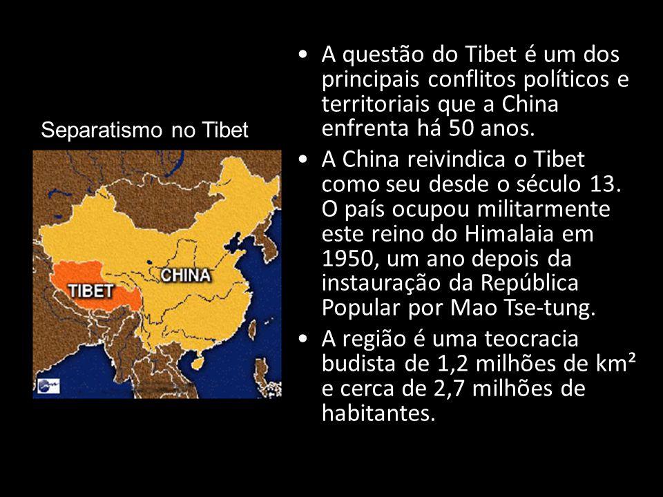 Separatismo no Tibet A questão do Tibet é um dos principais conflitos políticos e territoriais que a China enfrenta há 50 anos.