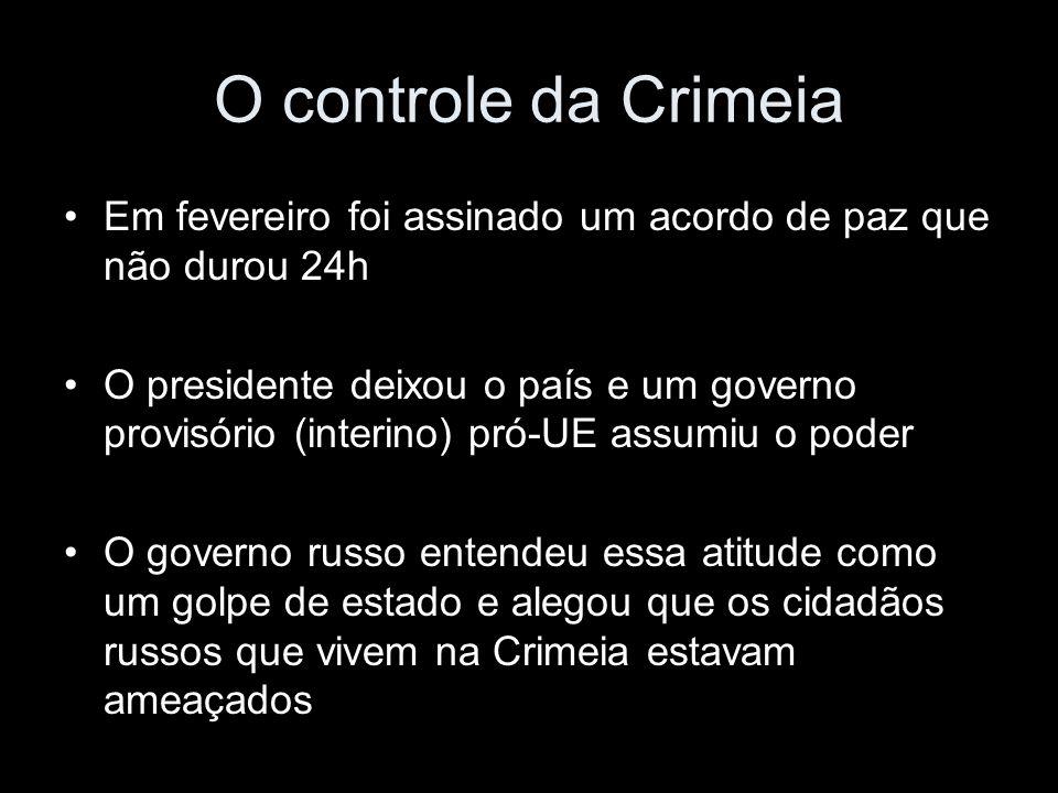 O controle da Crimeia