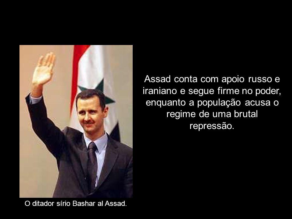 Assad conta com apoio russo e iraniano e segue firme no poder, enquanto a população acusa o regime de uma brutal repressão.