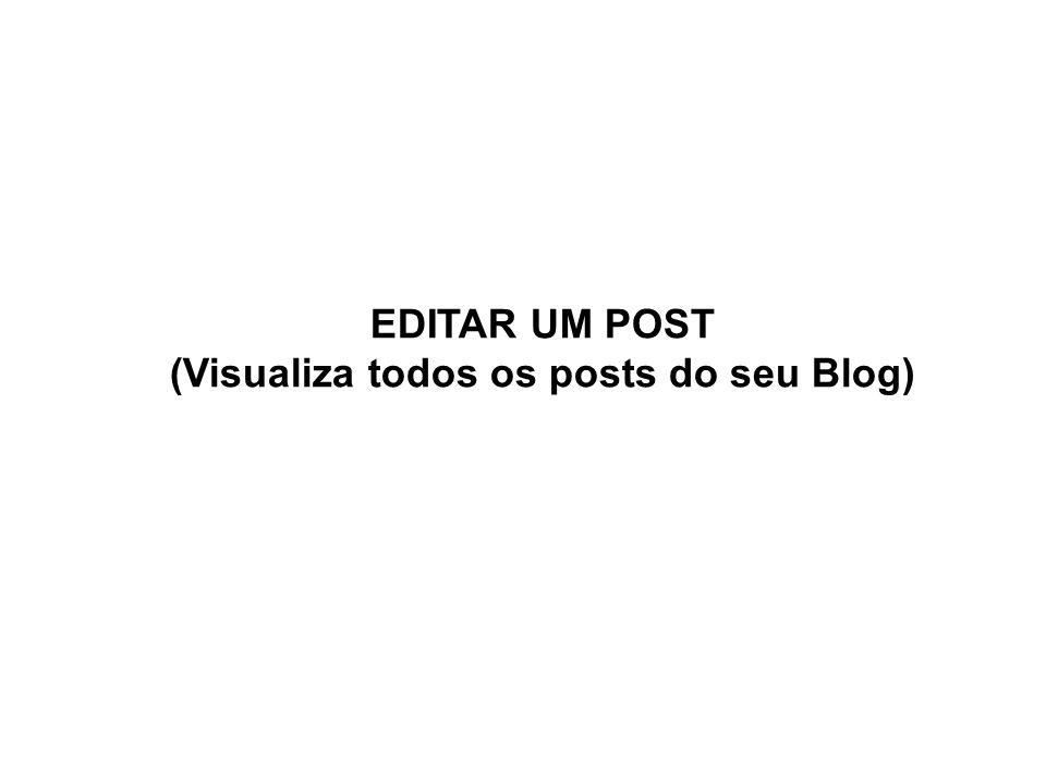 EDITAR UM POST (Visualiza todos os posts do seu Blog)