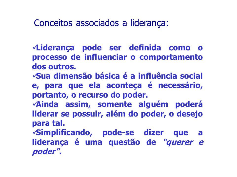 Liderança pode ser definida como o processo de influenciar o comportamento dos outros.